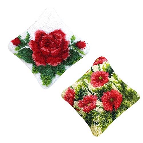 Dailymall - Juego de 2 Ganchos de Cierre, diseño de Flor roja, para Principiantes