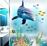 Etiqueta De La Pared Diy Vinilo Cita Decoración Del Hogar Submarino Delfín Peces Acuario Océano Decoración Del Hogar Animales De Dibujos Animados