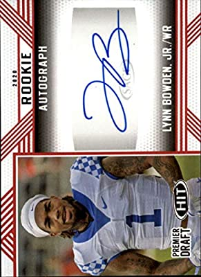 2020 SAGE HIT Premier Draft (NFL) Autograph Red #A11 Lynn Bowden Jr. Auto Kentucky Wildcats Pre-Rookie RC Official Player Licensed Football Trading Card