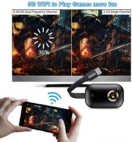 Wireless Display Dongle HDMI Wi-Fi 4K Adaptador, Receptor de transmisión para iPhone/iPad/iOS/Android/Windows/PC Conectado a HD TV/Monitor/Projector/Mac,Compatible con Miracast Airplay DLNA miniatura