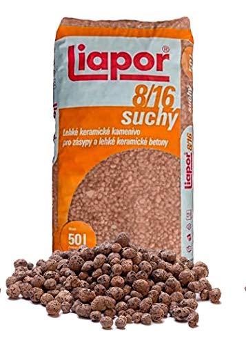 M-import 50 Liter Pflanzton Blähton Körnung 8-16 mm Keramzit Kultursubstrat Hydrokultur Granulat als Pflanzenerden-Ersatz für Topfpflanzen, Blühpflanzen und Kräuter, Pflanz-Granulat