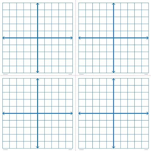 EAI Education Magnetic X-Y Coordinate Grids - Set of 4