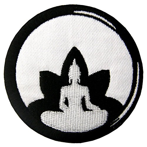 Buddha Birth to Death Buddhism Zen Embroidered Badge Iron On Sew On Patch
