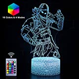 Raven 3D Night Light Remote Control Optical Illusion LED Nightstand Lights with 16 Colors Wall Lamp Decor for Bedroom Kids Game Room Party Gifts for Boys Girls Kids Birthday Choice (Raven(Remote))