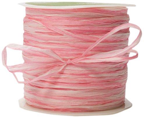 May Arts Ribbon, Pink Paper Rafia