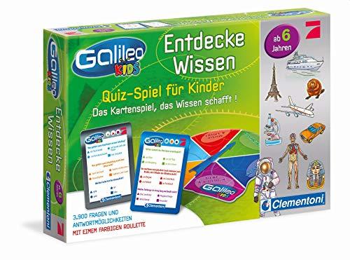 Clementoni 69808 Galileo Kids – Wissens-Quiz für Kinder, Frage-Antwort-Spiel ab 6 Jahren, lehrreiches Kartenspiel, Allgemeinwissen & Spaß für die ganze Familie
