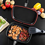 SQ Professional NEA Grill Die-Cast Magic Pan 32cm Double Sided (Nera)