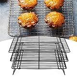 Griglia di Cottura, griglia di Raffreddamento da Cucina griglia di Raffreddamento Resistente alle Alte Temperature per Biscotti per frittelle(40 * 25 * 9CM)