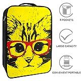Bennigiry Ritratto di gatto con occhiali borsa da viaggio organizer portatile per scarpe da golf weekender borse per donne e uomini