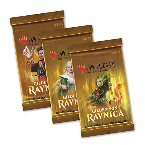Magic the Gathering - Gilden von Ravnica - 3X Booster Packung - deutsche Ausgabe