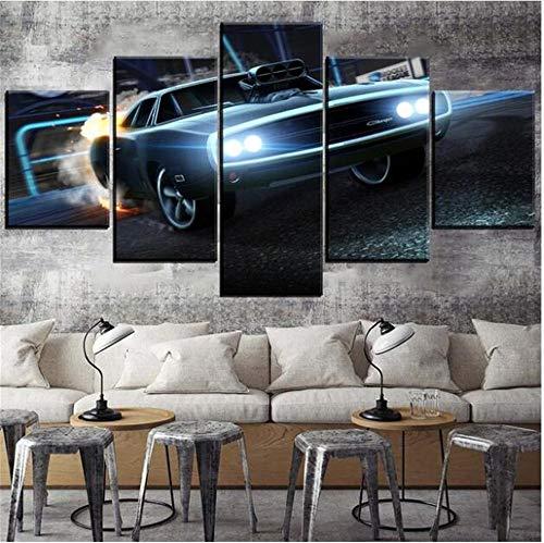 professionnel comparateur KPWAN imprime 5 impressions HD Rocket League voiture mur photo affiche sur toile… choix
