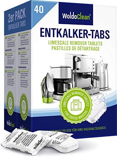 Descalcificador Cafetera Pastillas de descalcificación - 40x 16g Tabletas para máquina de café, Compatible con marcas Delonghi, Dolce Gusto, Nespresso, Seaco, Krups, Senseo