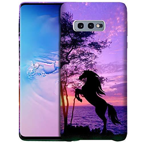 Glisten Galaxy S10 Lite/Galaxy S10e Case - Horse Printed Slim Profile Cute Designer Plastic Hard Snap on Back Galaxy S10 Lite/Galaxy S10e Case/Cover