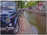 TJVXN Rompecabezas 1000 Piezas 1000 Coches en el Canal Amsterdam Jigsaw PuzzleRegalos de cumpleaños1000 piezas38x26cm