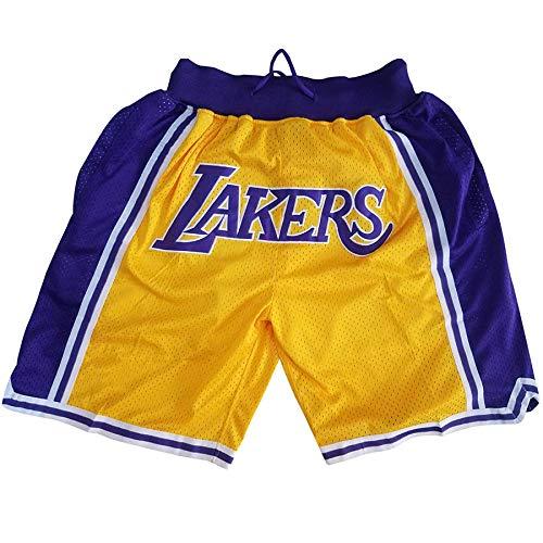 QJJ Camisetas de baloncesto para hombre, Lakers #24 Kobe Bryant Fans Bordado Baloncesto Verano Swingman Jerseys Camiseta sin Mangas Chaleco Deportivo Transpirable Uniformes Deportivos Amarillos-XL