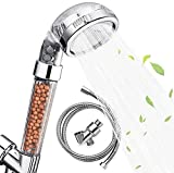 Nosame Shower Head with Hose and Braket, Filter Filtration High Pressure Water Saving 3 Mode Function Spray Handheld Showerheads for Dry Skin & Hair