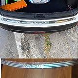 CHENGQIAN 1 Uds Protector De Parachoques Trasero Interior De Acero Inoxidable Alféizar Cubiertas De Maletero Embellecedor para Nissan Qashqai J10 2007-2012 2013 Accesorios De Coche