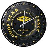 hotrodspirit - Pendule Metal Ronde Good Year Pneu Horloge tole Deco Garage Station de Montage