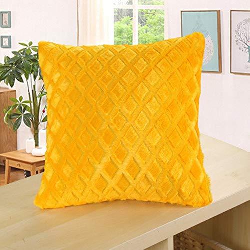PPMP Weiche Kissenbezüge Dekorative Kissenbezüge für Wohnzimmer Sofa Grau Kissenbezug Home Decor Kissenbezüge A19 45x45cm 1St