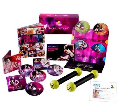 Zumba Fitness Exhilarate entrenamiento W/Zumba libro de recetas y forma suscripción