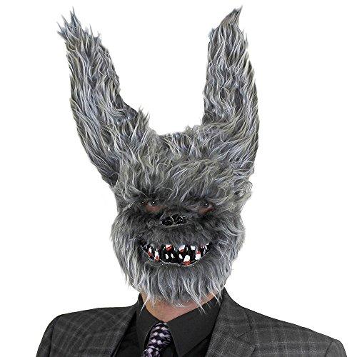 I Love Fancy Dress. ilfd197Furry Máscara de conejo blanco con dientes y punta Orejas. Talla única de accesorios de halloween disfraz