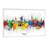 artboxONE Poster mit weißem Rahmen 60x40 cm Städte