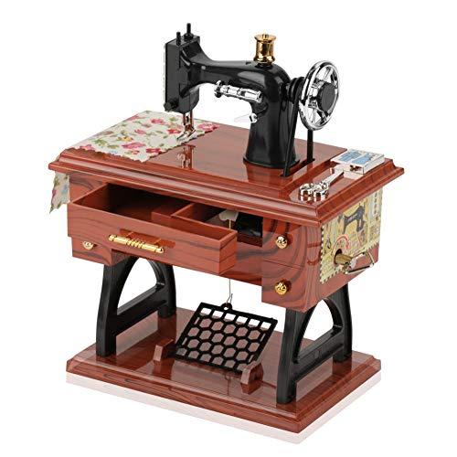 Pomya Mini Spieluhr, Mini Vintage Kreative Retro Nähen Uhrwerk Spieluhr Tischdekoration für Geburtstagsgeschenk Weihnachten