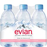 Evian Natural Mineral Water, 330ml (Pack of 6 Bottles)
