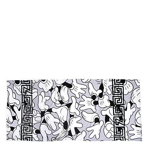ZOEPPRITZ Beach Mickey Hands Strandtuch – Strandlaken aus 100% weicher Baumwolle – 90x180 cm – Badetuch - Saunatuch - Original Disney Design