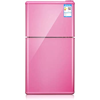 STAR BABY 50L standard refrigerator, hotel mini bar, bench top cooler, water cooler, wine cooler, kitchen table, office desk, bedroom, pink [Energy Grade A+ ++],Pink