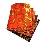 MagiDeal 5X Algodón Patchworks Telas Costura Edredón Parches de Tela Cuadrados Bolsos de Bricolaje Cortinas - Naranja