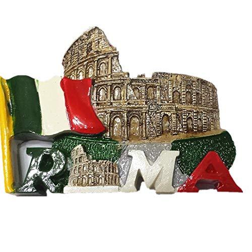3D Roma Colosseo Italia souvenir magnete frigo, decorazione casa e cucina Colosseo Romano magnete frigorifero