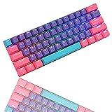 CJXSP PBT 61 Keycaps 60 Percent, OEM Profile Gaming Keycaps Cherry MX RGB Backlit Keycap Set for 60% Mechanical Keyboard Anne Pro 2/Poker/RK61/GK61/Ganss Alt61,Only keycaps (Pink Peach)