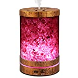 Sheoolor Essential Oil Diffuser Humidifier,120ml Bronze Himalayan Salt Lamp Diffuser with 7 Color Lights, Ultrasonic Aromatherapy Diffuser Waterless Auto-Off & Reduce Noise Design for Baby Room