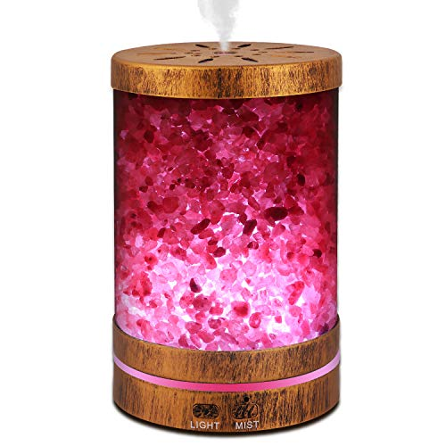Sheoolor Essential Oil Diffuser Humidifier,120ml Bronze Himalayan Salt...