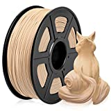 Wood PLA Filament, PLA Wood 3D Printer Filament 1.75mm, Wood Fiber Filled PLA Wood Filament 1KG (2.2 lb) PLA Wood Color