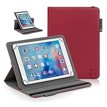 SafeSleeve iPad EMF Radiation Blocking Case Universal Tablet Case for for 9 -10  Tablet Computers Including iPad iPad Air iPad Pro 9.7 Galaxy Tab 9.7 Nexus 10 Nook HD+ and More - Red