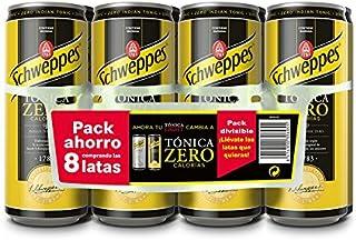 Schweppes Tónica Zero Bebida Refrescante - 8 Latas