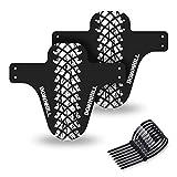 Q&BGRAFICHE Kit guardabarros MTB | 2 piezas guardabarros para bicicleta de montaña, guardabarros delantero y trasero para MTB, accesorios antisalpicaduras para bicicleta PFG-MTB-010
