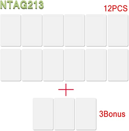 28PCS NFC NTAG213 PVC IC Card 13.56MHz with 180 Bytes Fully programmable NTAG213 Chip 25Pieces+3bonus Works with All Android NFC Smartphones and Devices