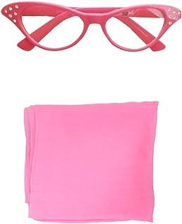 b23f7d879418 50s Costume Accessory Set Chiffon Scarf, Cat Eye Glasses and Bobby Socks  for Women