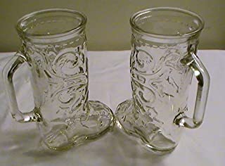 cowboy boot glasses for sale