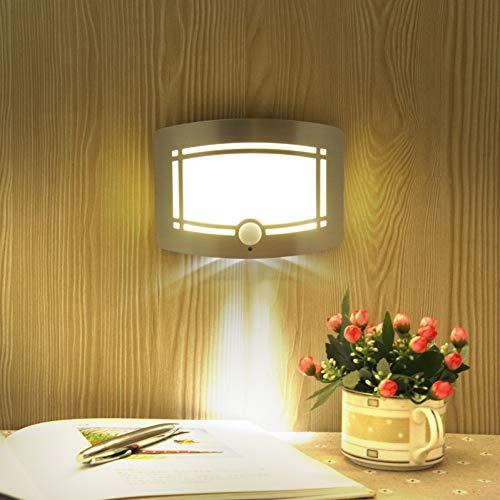 XHSHLID bewegingssensor nachtlicht sensorbesturing wandlamp LED binnenlamp voor slaapkamer lamp voor kast batterijvoeding