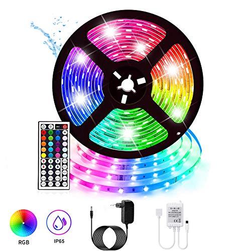 Multicolor 5050 Tira de Luz LED TV Impermeable Strip RGB 5M 270LEDs Adaptador de Alimentación de 12V2A a Distancia Clave Receptor Descripción del Producto.[Clase A+]