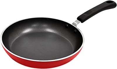 Ecolution Heavyweight 8-Inch Eco-friendly Fry Pan,Fiery Red