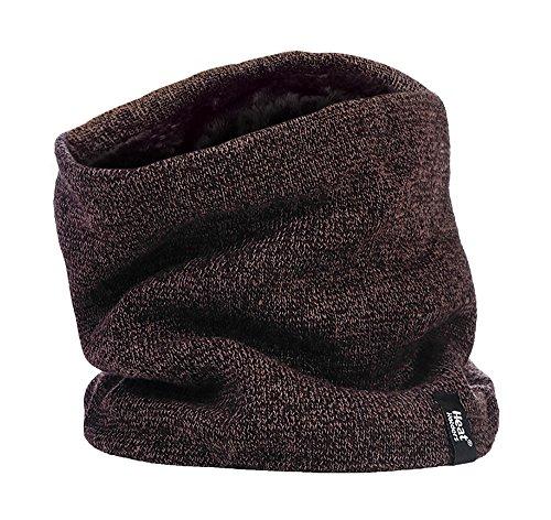 Heat Holders Cache-cou thermique d'hiver pour homme - 2,6 tog - Taille unique - Marron - Taille Unique