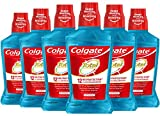 Colgate Total Pro-Shield Alcohol Free Mouthwash, with CPC (Cetylpyridinium Chloride), Antibacterial Formula, Peppermint - 500 mL, 16.9 fluid ounce (6 Pack)