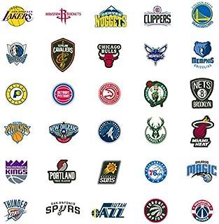 30 NBA Stickers Basketball Team Logo Complete Set, All 30 Teams. Die Cut. Lakers Bulls Heat Warriors Celtics Cavaliers Thu...