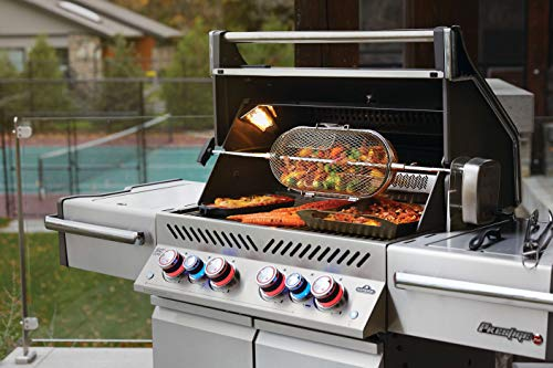 Napoleon PRO500RSIBPSS-3 Prestige PRO 500 Propane Gas Grill with Infrared Rear and Side Burner, Stainless Steel