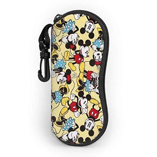GERERIC Estuche Para Las Gafas,Mic-Key Mouse Minnie Anime Estuche Plegable De Gafas,Funda Portátil Caja Para Gafas De Sol,Funda De Neopreno Con Cremallera